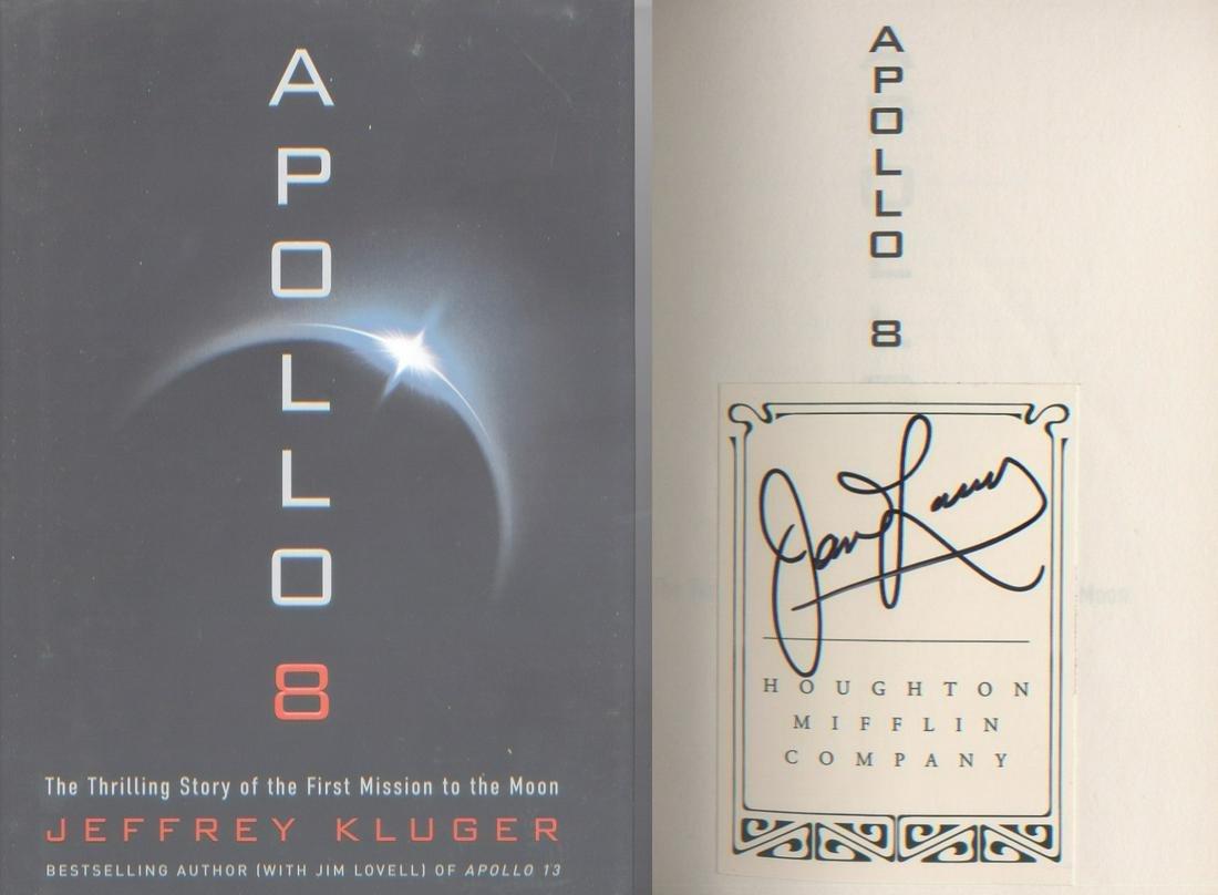 Apollo 8 Astronaut James Lovell. A rare signed hardback