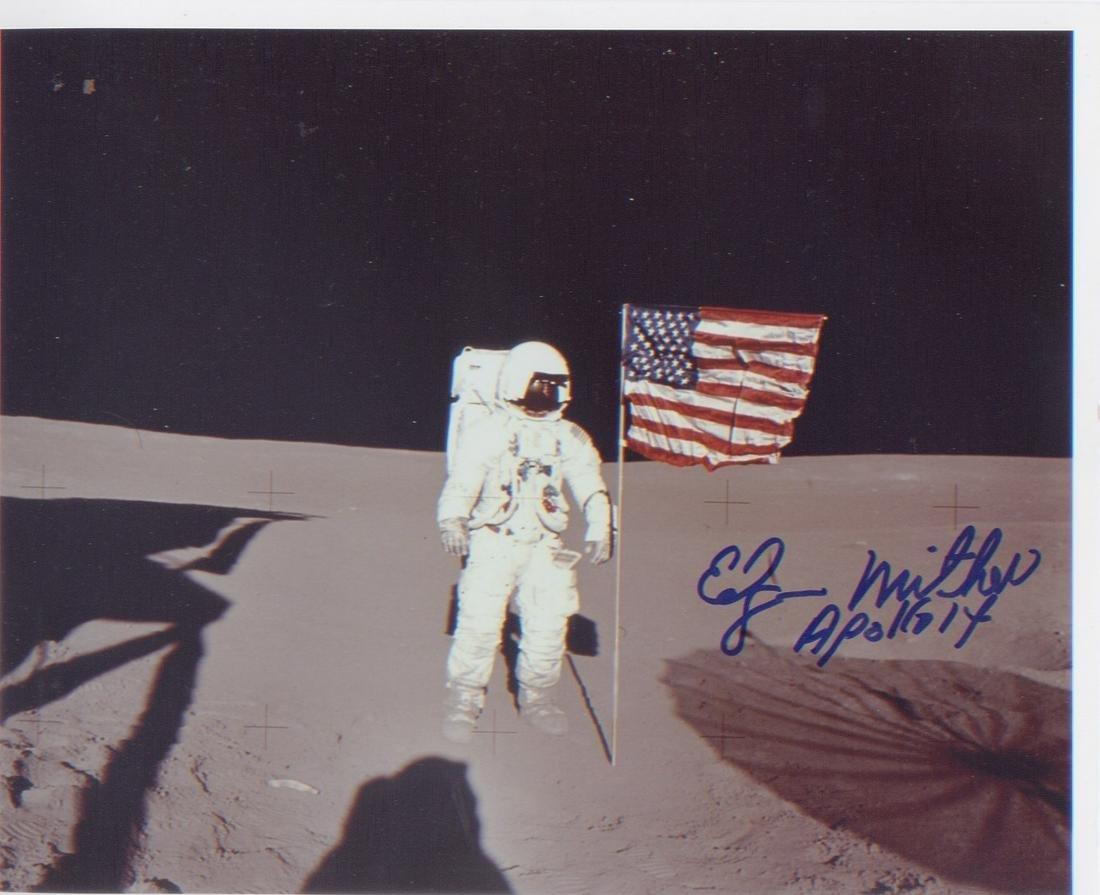 Apollo 14 Astronaut Edgar Mitchell. Signed 10x8 photo