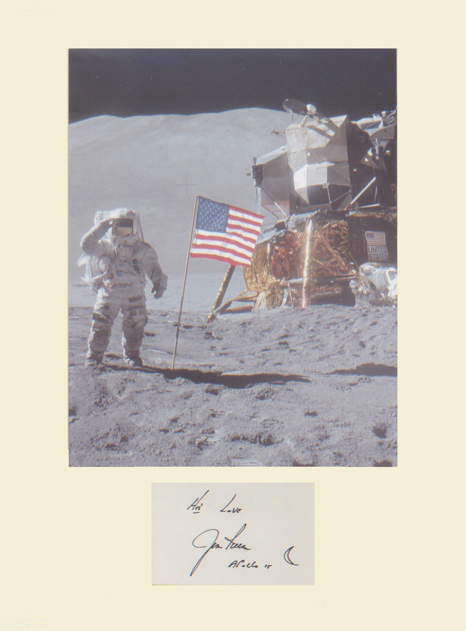 Apollo 15 Astronaut James Irwin. Signature mounted with