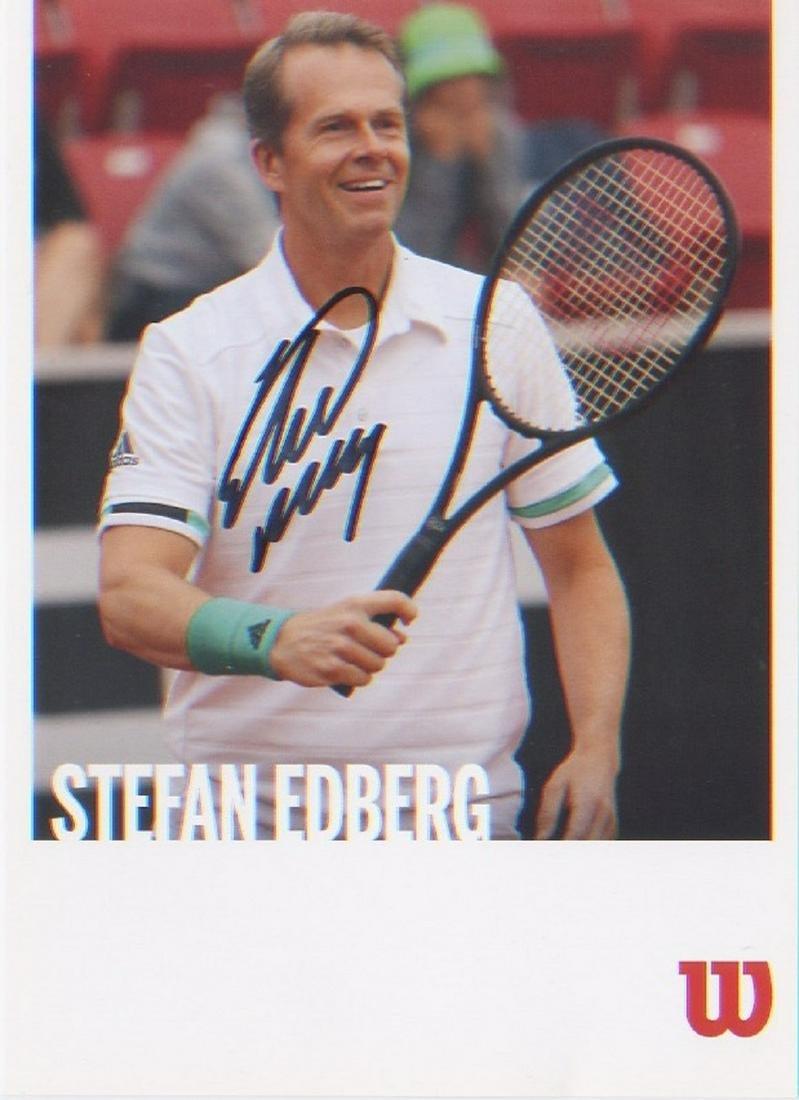 Stefan Edberg signed postcard picture of the former