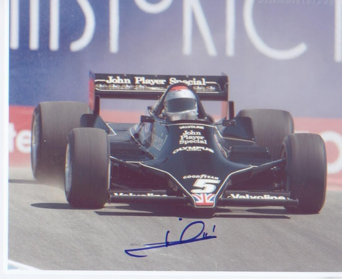 Mario Andretti signed 10 x 8 inch Motor Racing photo