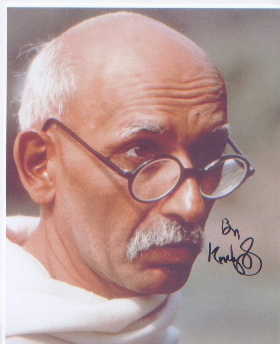 Sir Ben Kingsley Gandhi signed 10 x 8 inch photo in