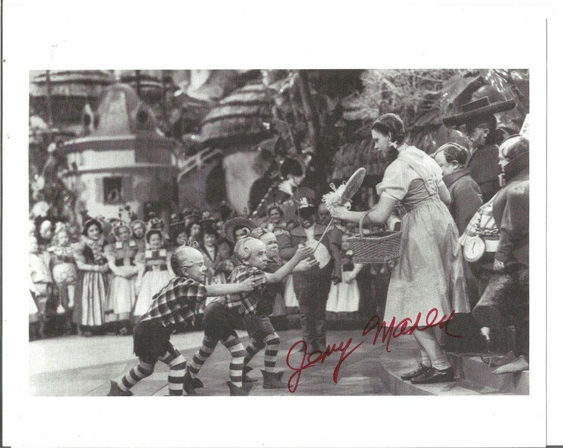Jerry Maren signed 10x8 b/w photo as a Munchkin the