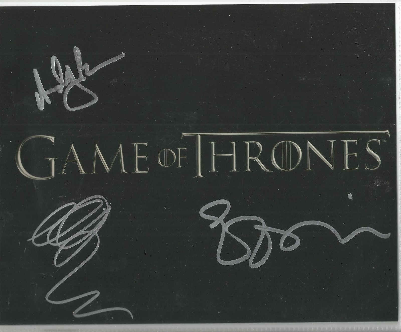 Game of Thrones 8x10 photo signed by cast members