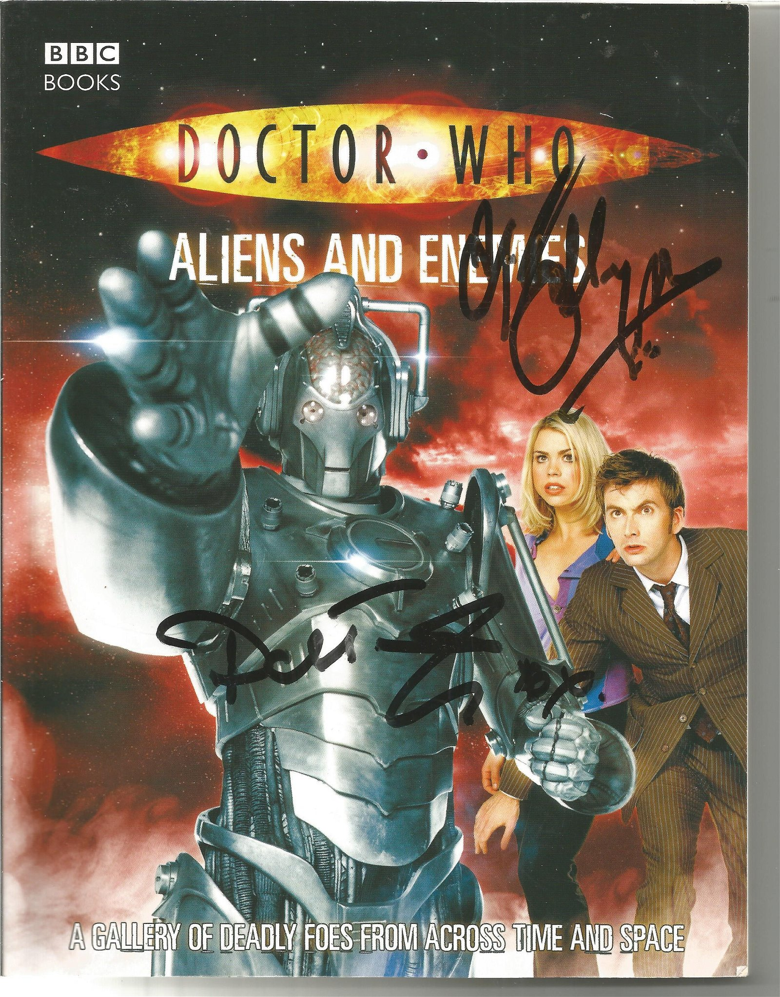 David Tennant and Billie Piper signed Doctor Who Aliens