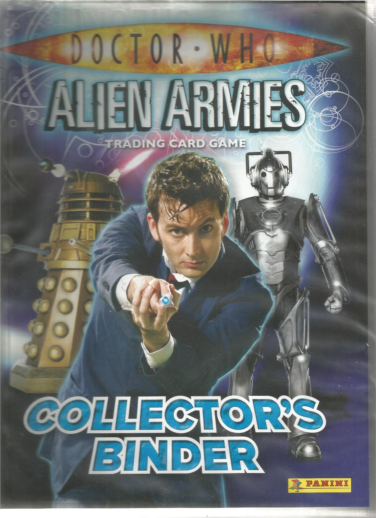 Doctor Who alien armies trading card collection in
