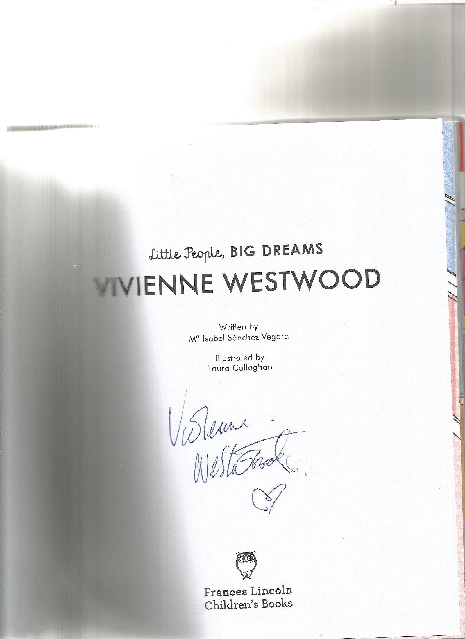 Vivienne Westwood signed Little People, Big Dreams