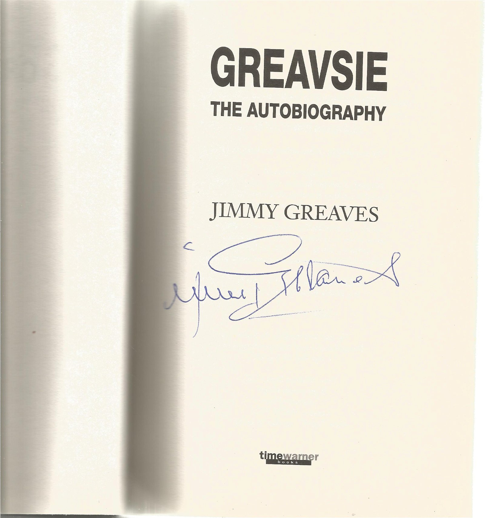 Jimmy Greaves signed The Autobiography hardback book,