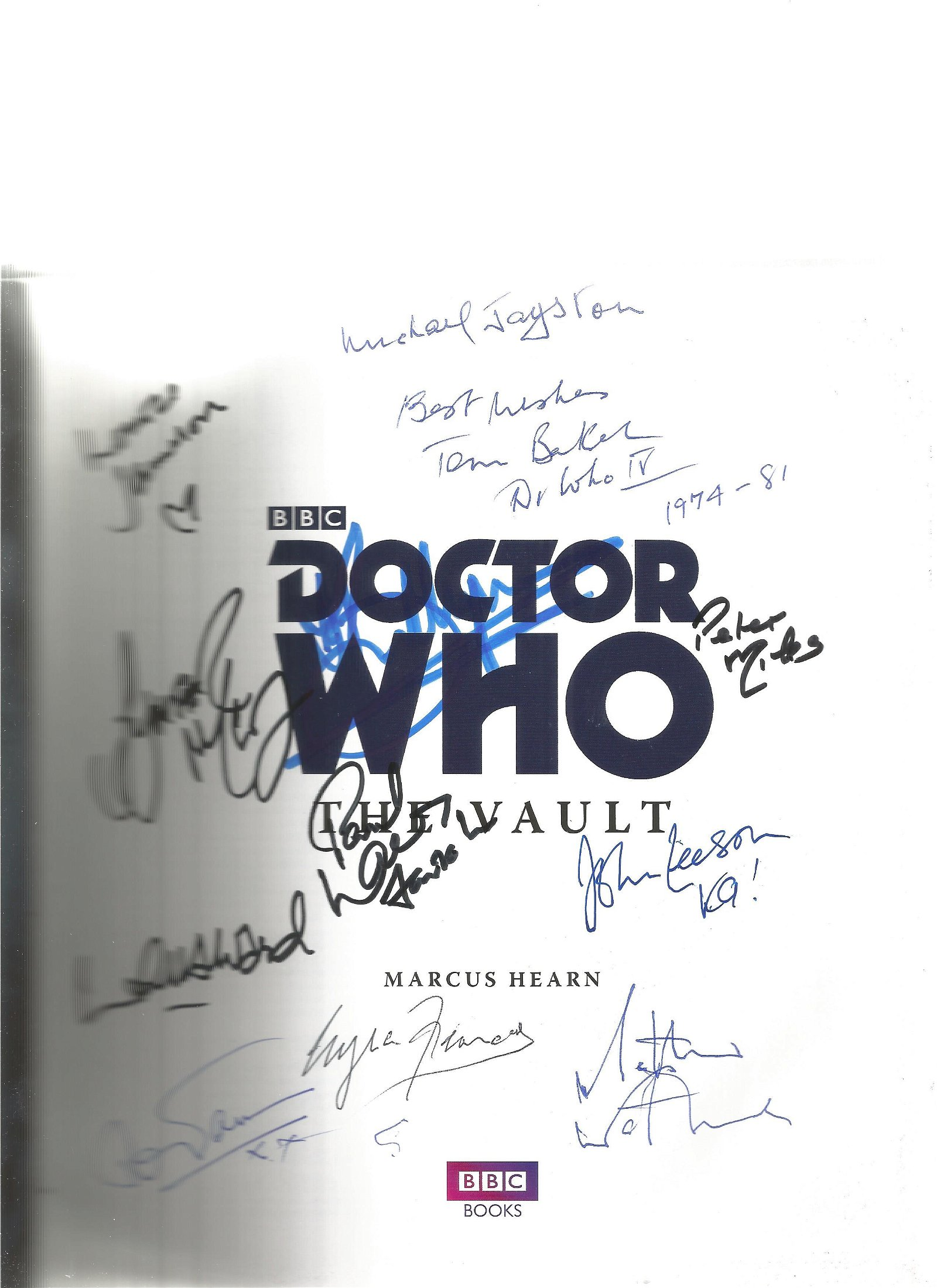 Multi signed Doctor Who - the vault - treasures from