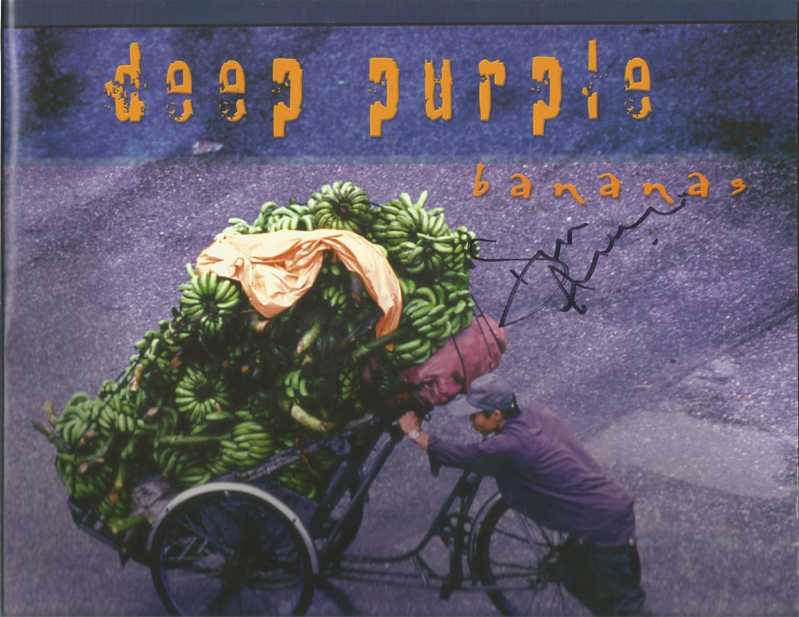 Don Airey signed Deep Purple Bananas programme, Signed