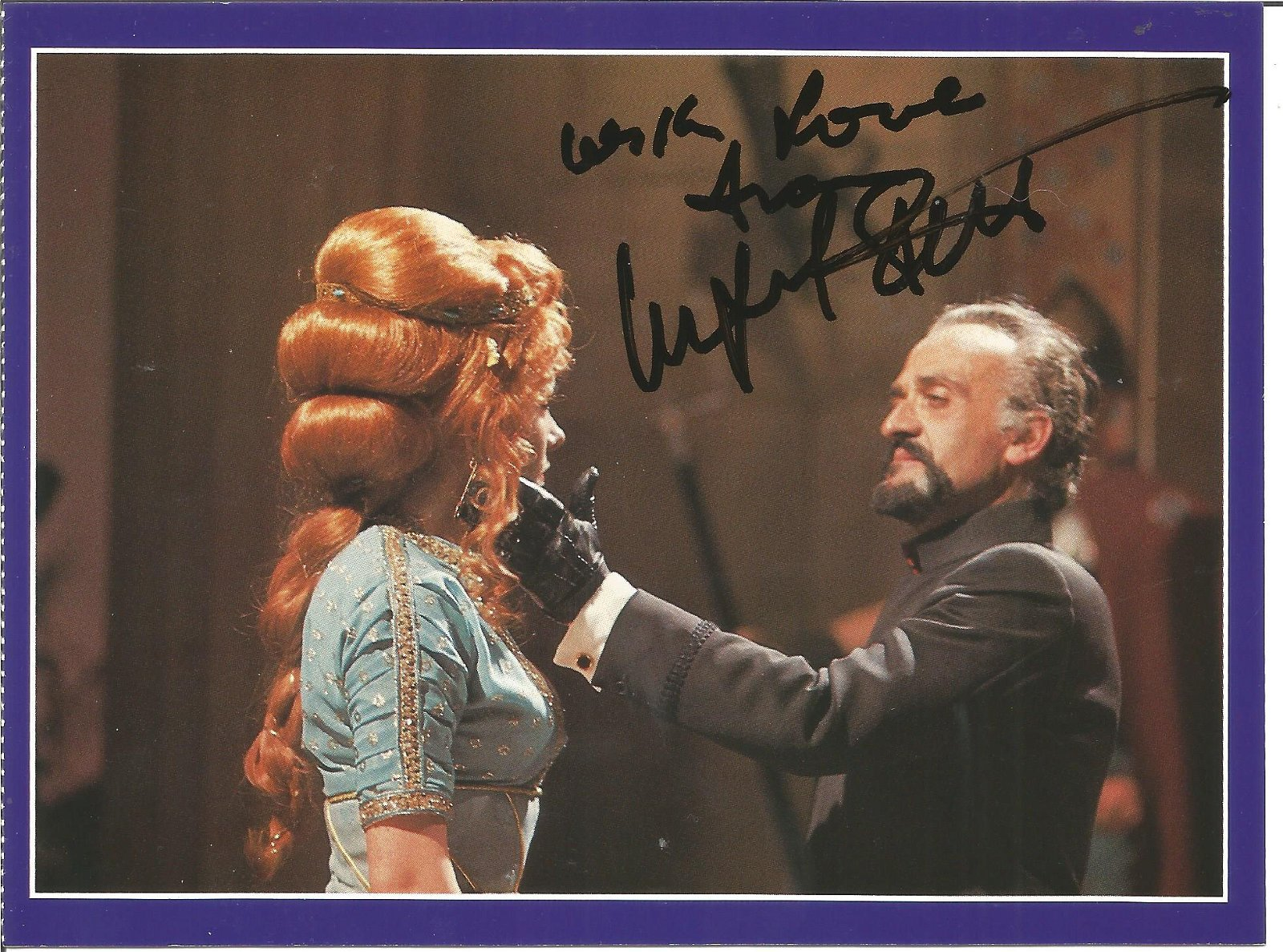 Doctor Who The Time Monster postcard signed by Ingrid
