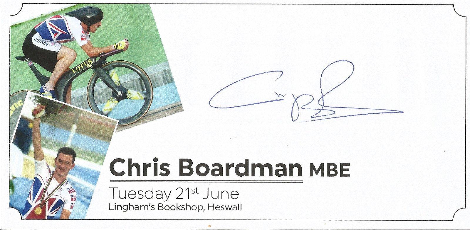 Chris Boardman signed commerative envelope . Good