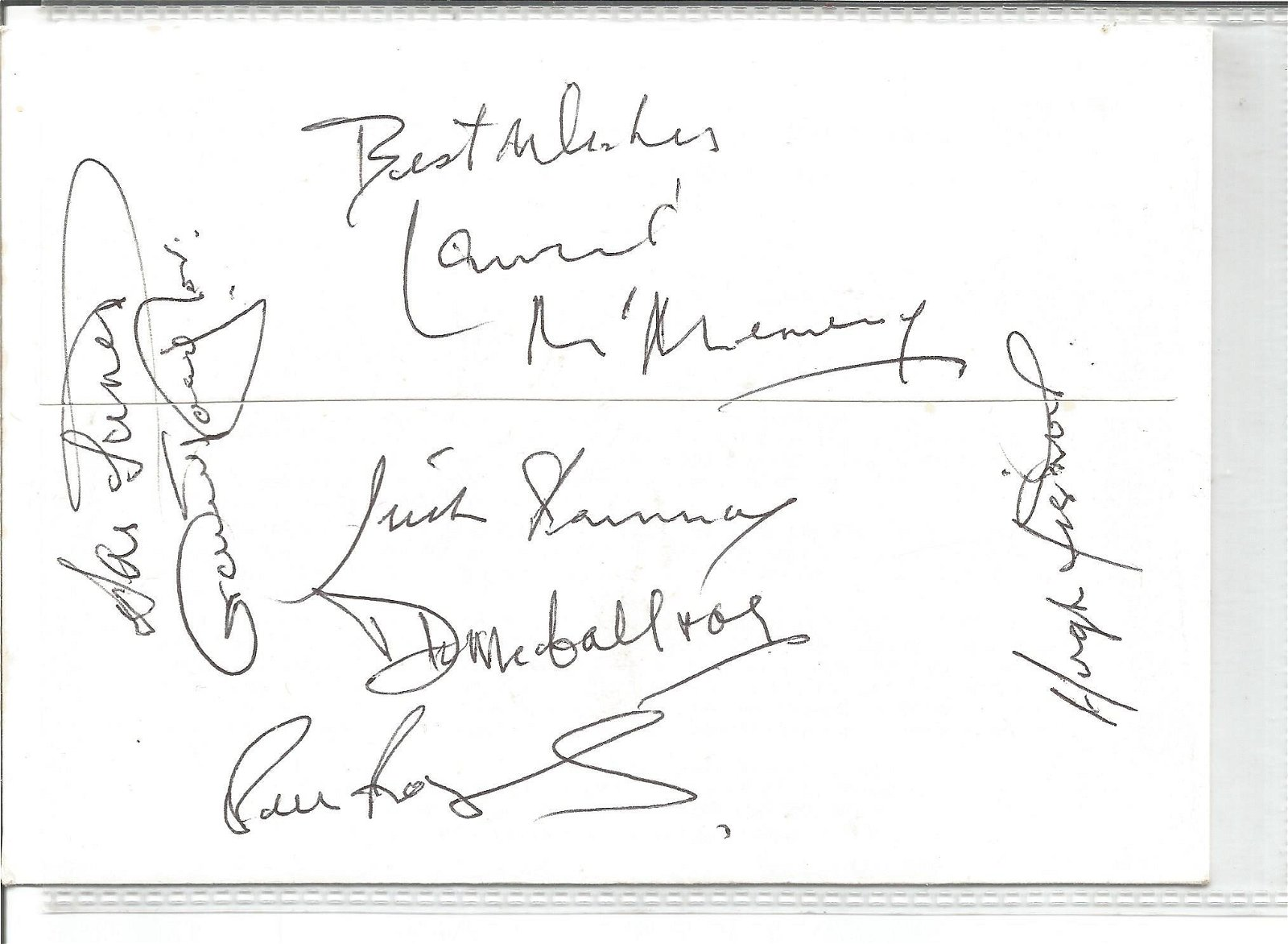 Multi signed Dawn cover, Signed by 18 including Joe