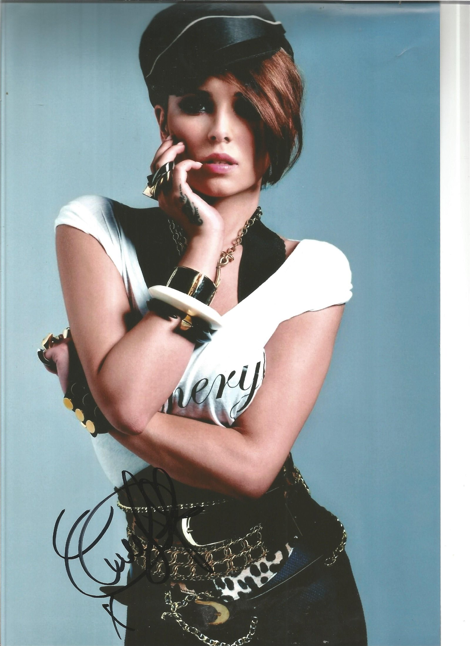 Cheryl Cole signed 12x8 colour photo. Good Condition.