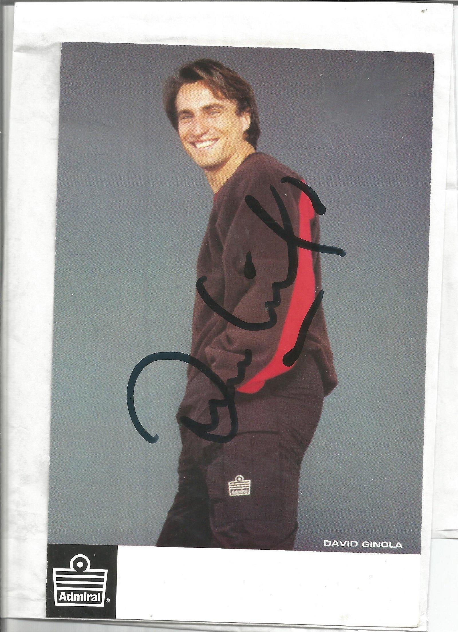David Ginola signed 8x6 colour photo. Good Condition.