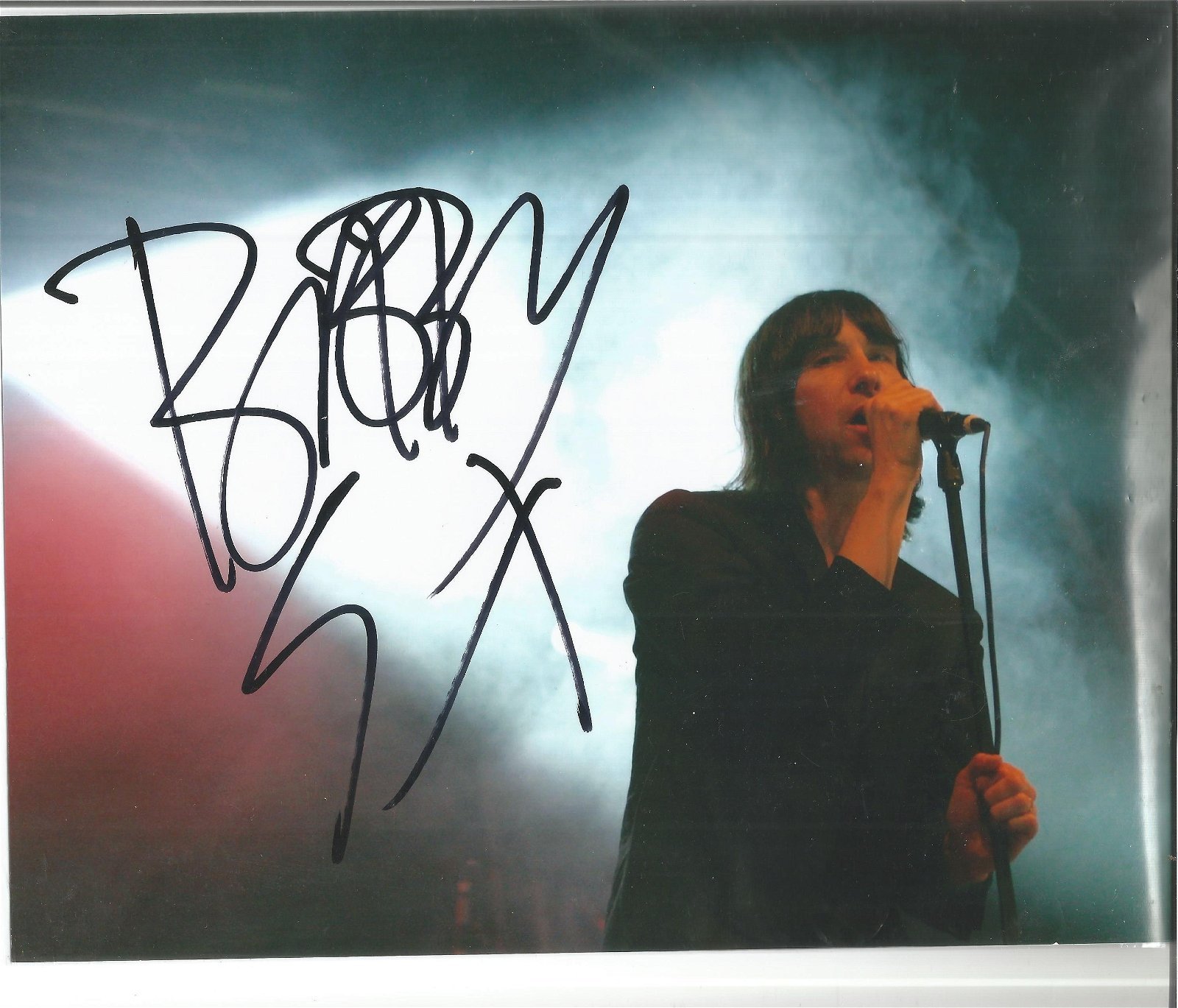 Bobby Gillespie signed 10x8 colour photo. Good