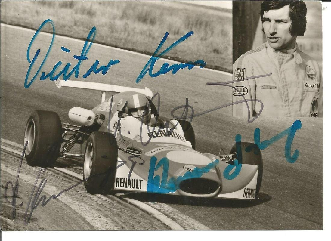 Werner P Haug, Dieter Kern and one other signed 6x4