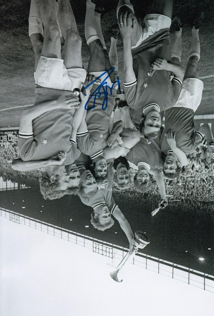 Leeds United Mick Bates, Football Autographed 12 X 8