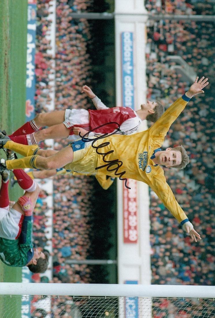 Leeds United Lee Chapman, Football Autographed 12 X 8