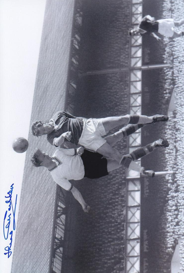 Leeds United Jack Charlton, Football Autographed 12 X 8