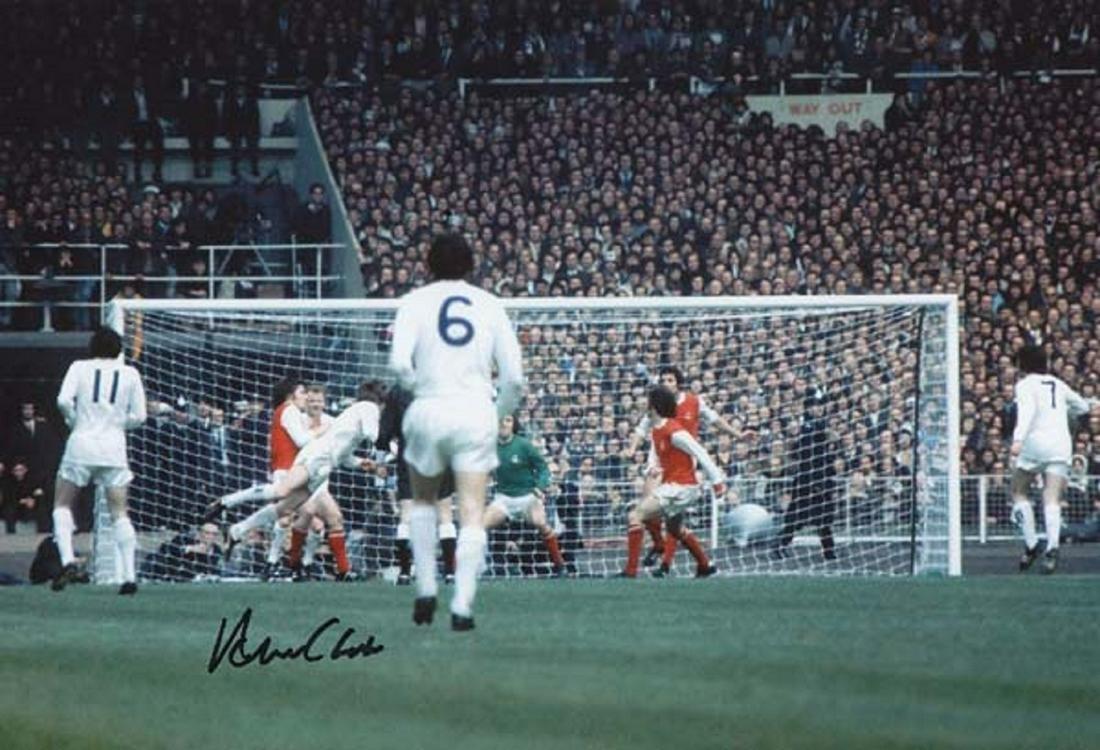 Leeds United Allan Clarke, Football Autographed 12 X 8
