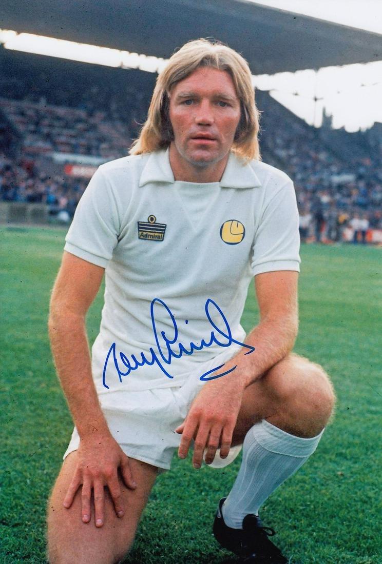Leeds United Tony Currie, Football Autographed 12 X 8