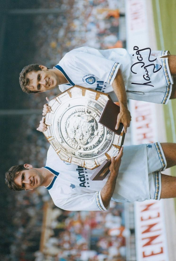 Leeds United Tony Dorigo, Football Autographed 12 X 8