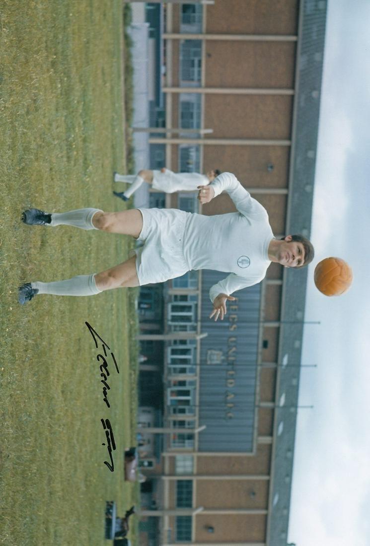 Leeds United Eddie Gray, Football Autographed 12 X 8
