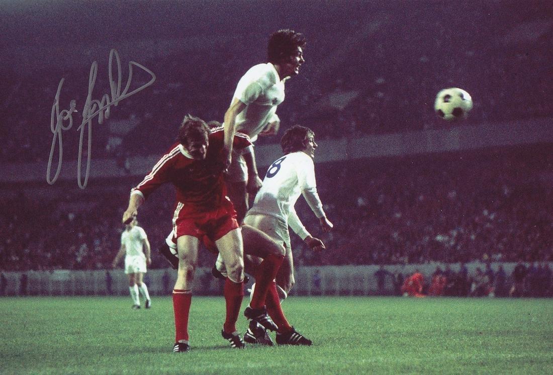 Leeds United Joe Jordan, Football Autographed 12 X 8