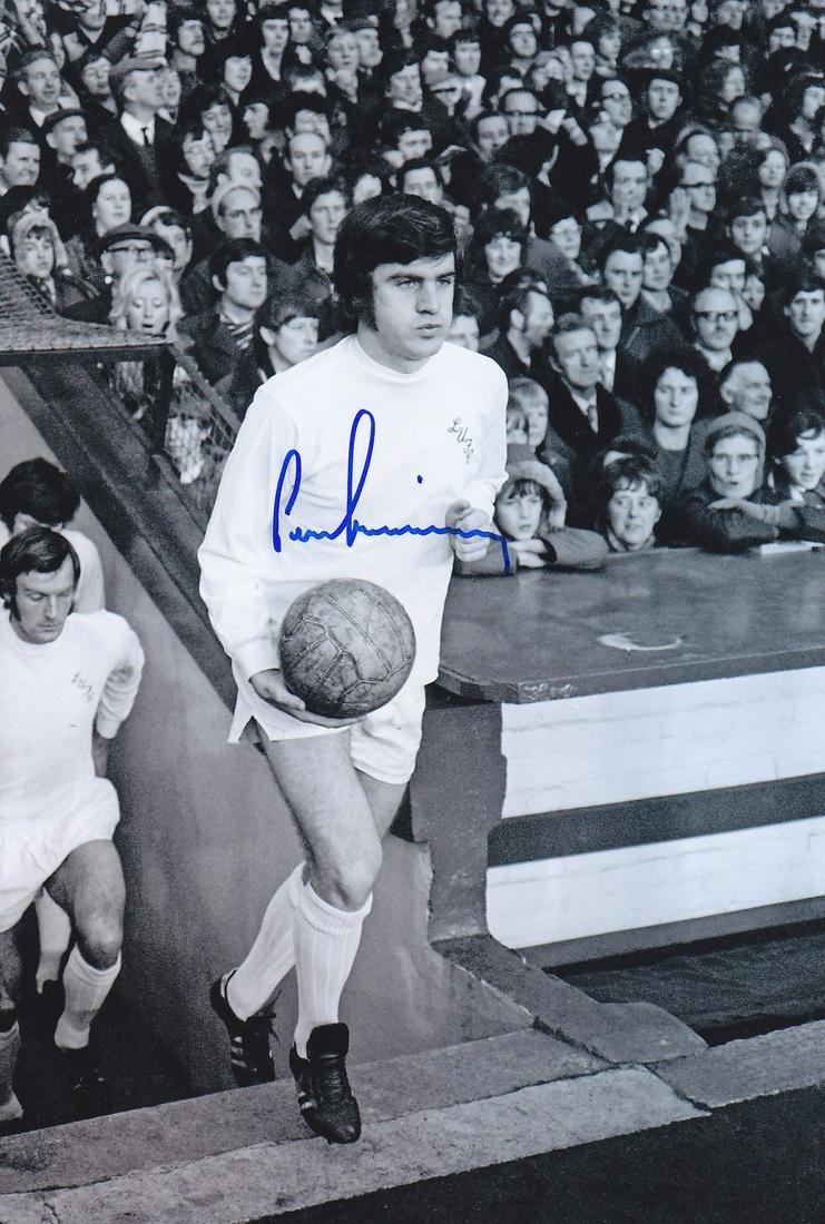 Leeds United Peter Lorimer, Football Autographed 12 X 8