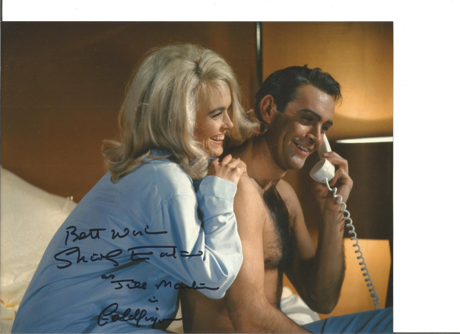 Shirley Eaton signed 10x8 colour photo from Goldfinger.