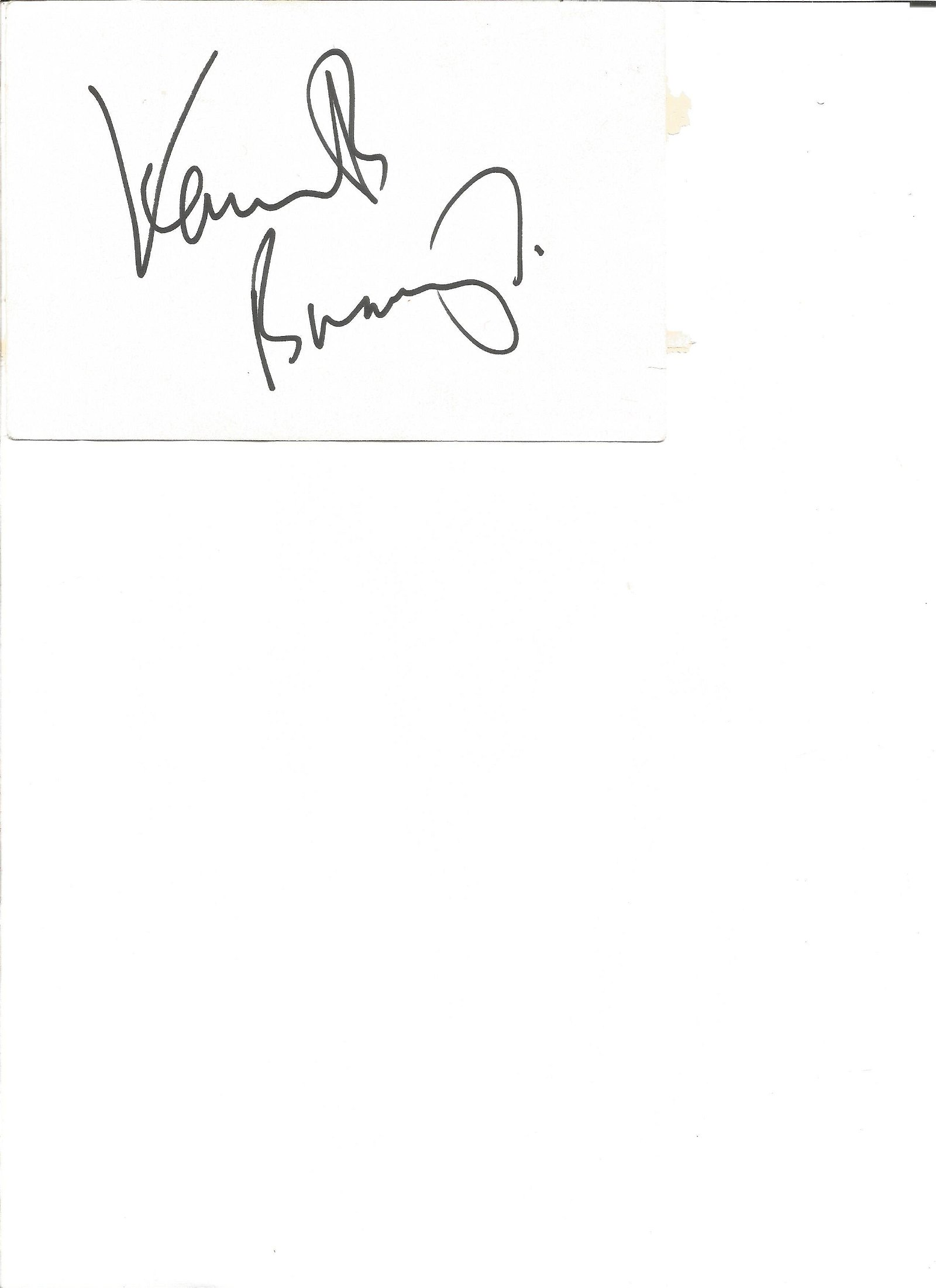 Kenneth Branagh signed 6x4 white card. Good Condition.