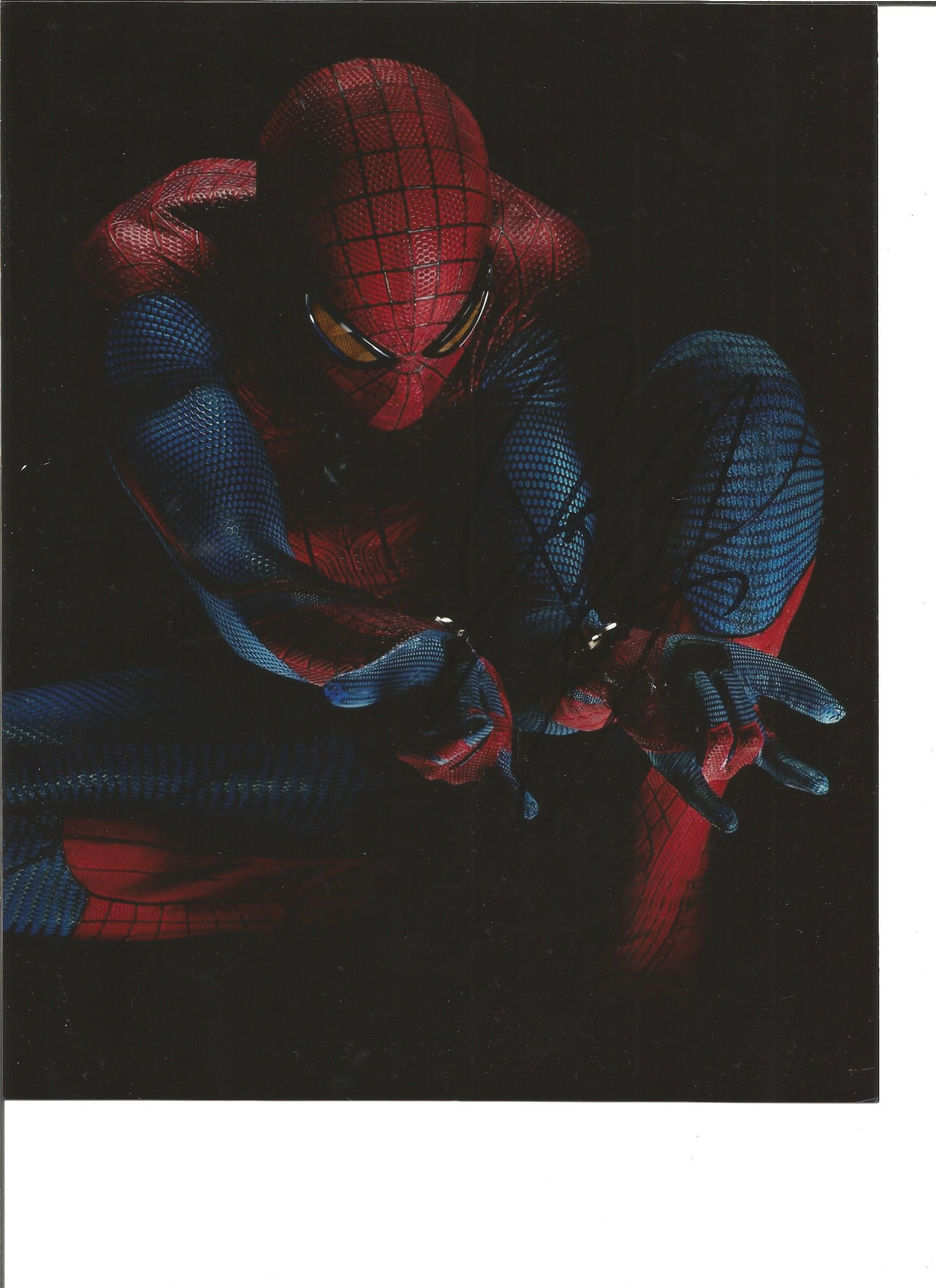 Andrew Garfield signed 10x8 colour Spiderman photo.