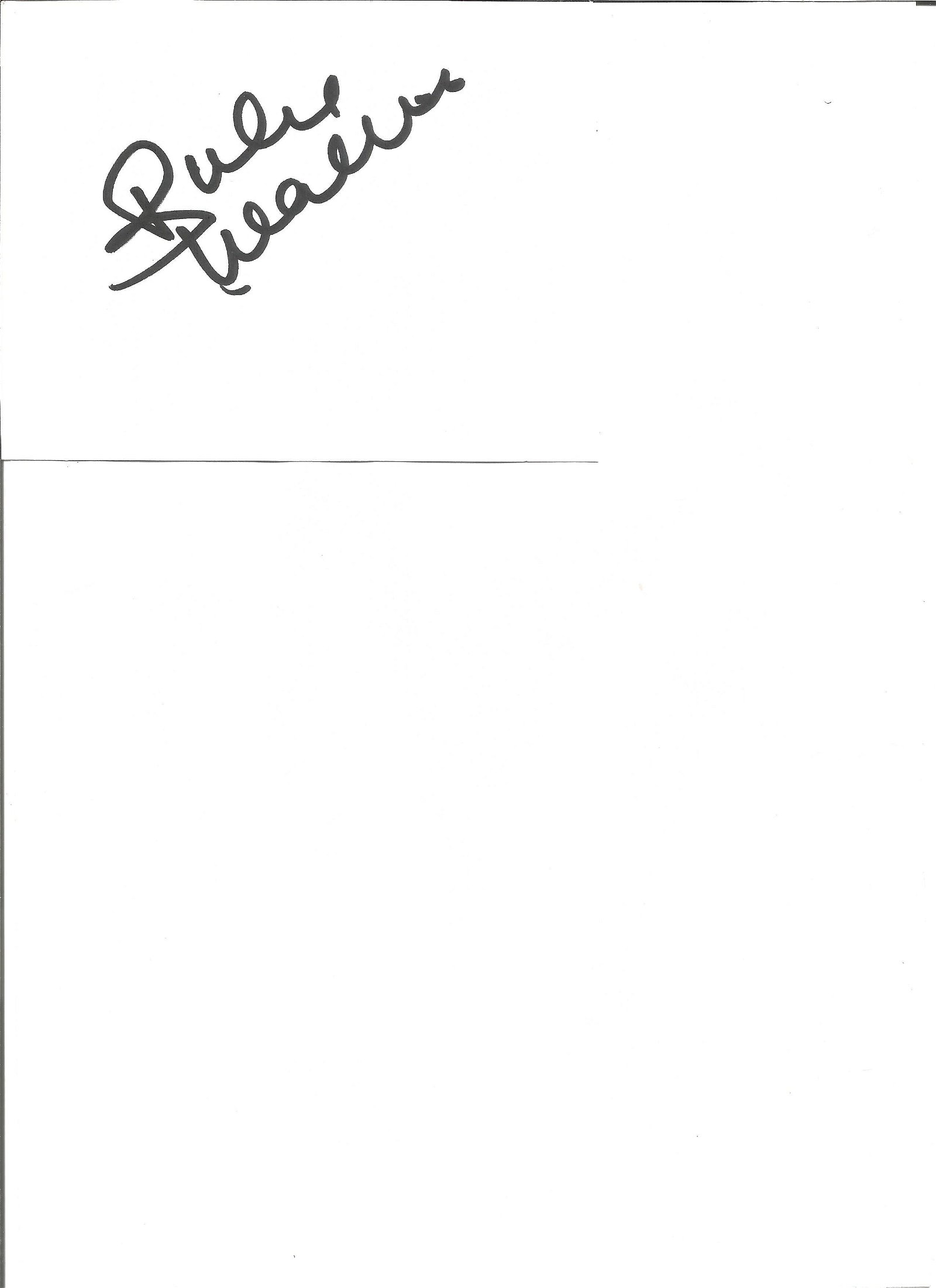 Julie Walters signed white card with 10x8 colour Harry