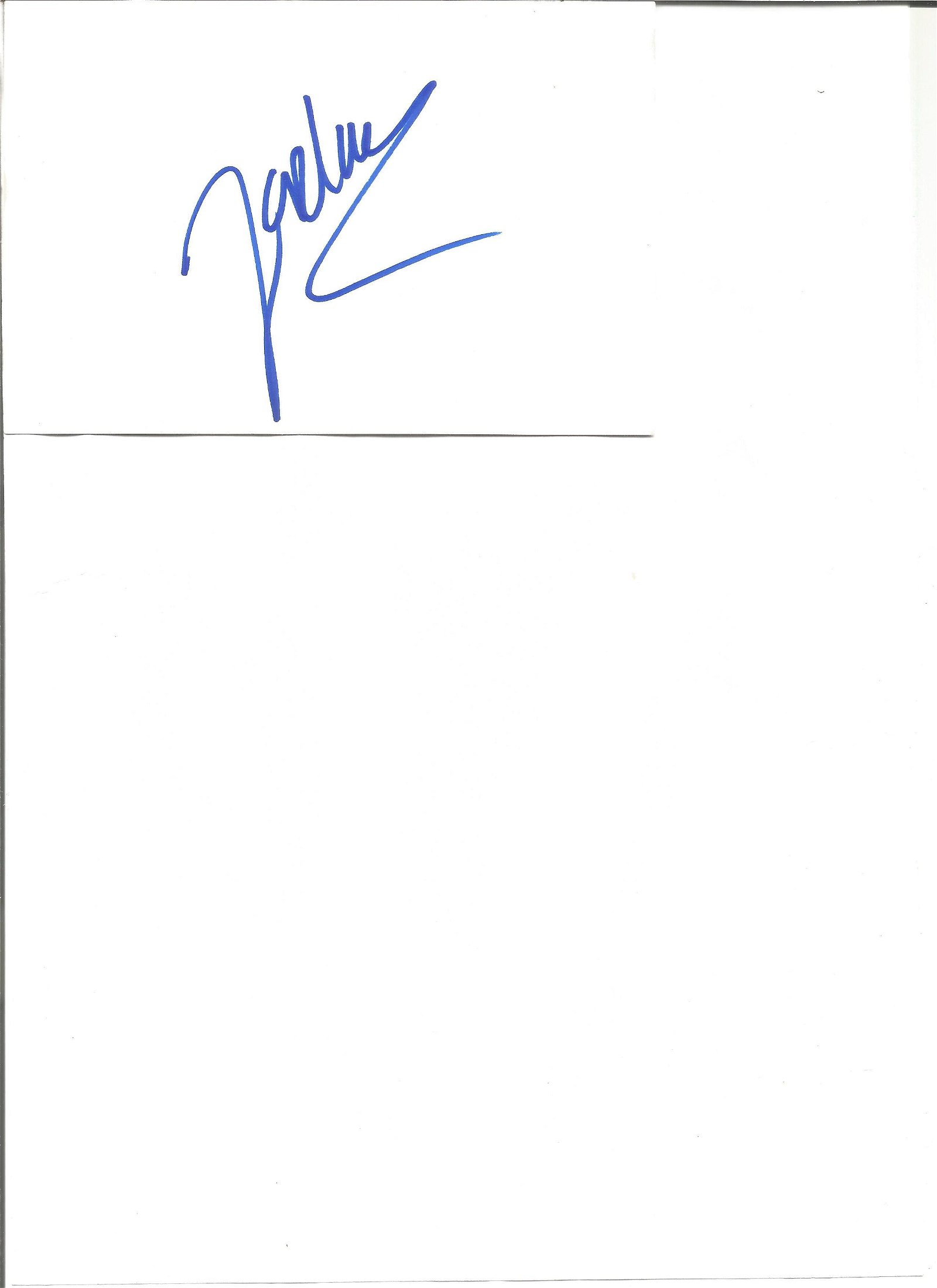 Jordan(Katie Price) signed white card with 10x8 colour