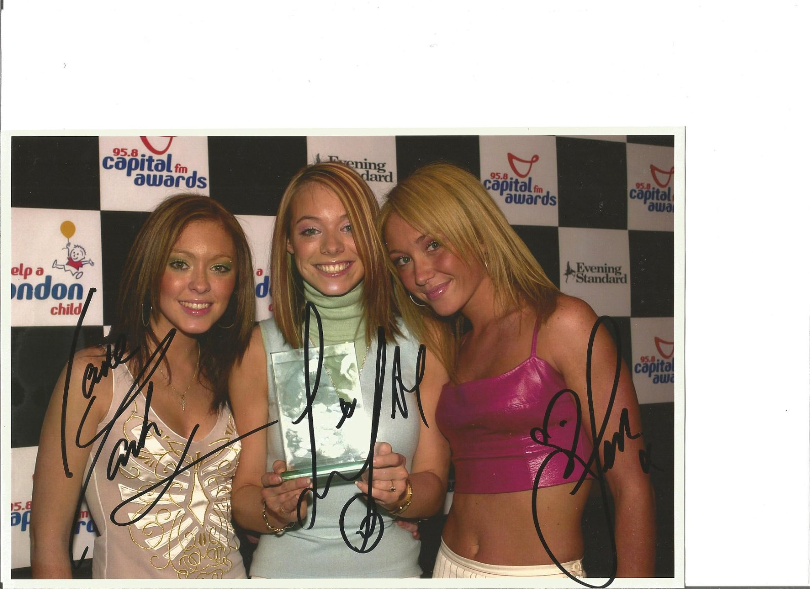 Atomic Kitten signed 10x6 colour photo. Good Condition.