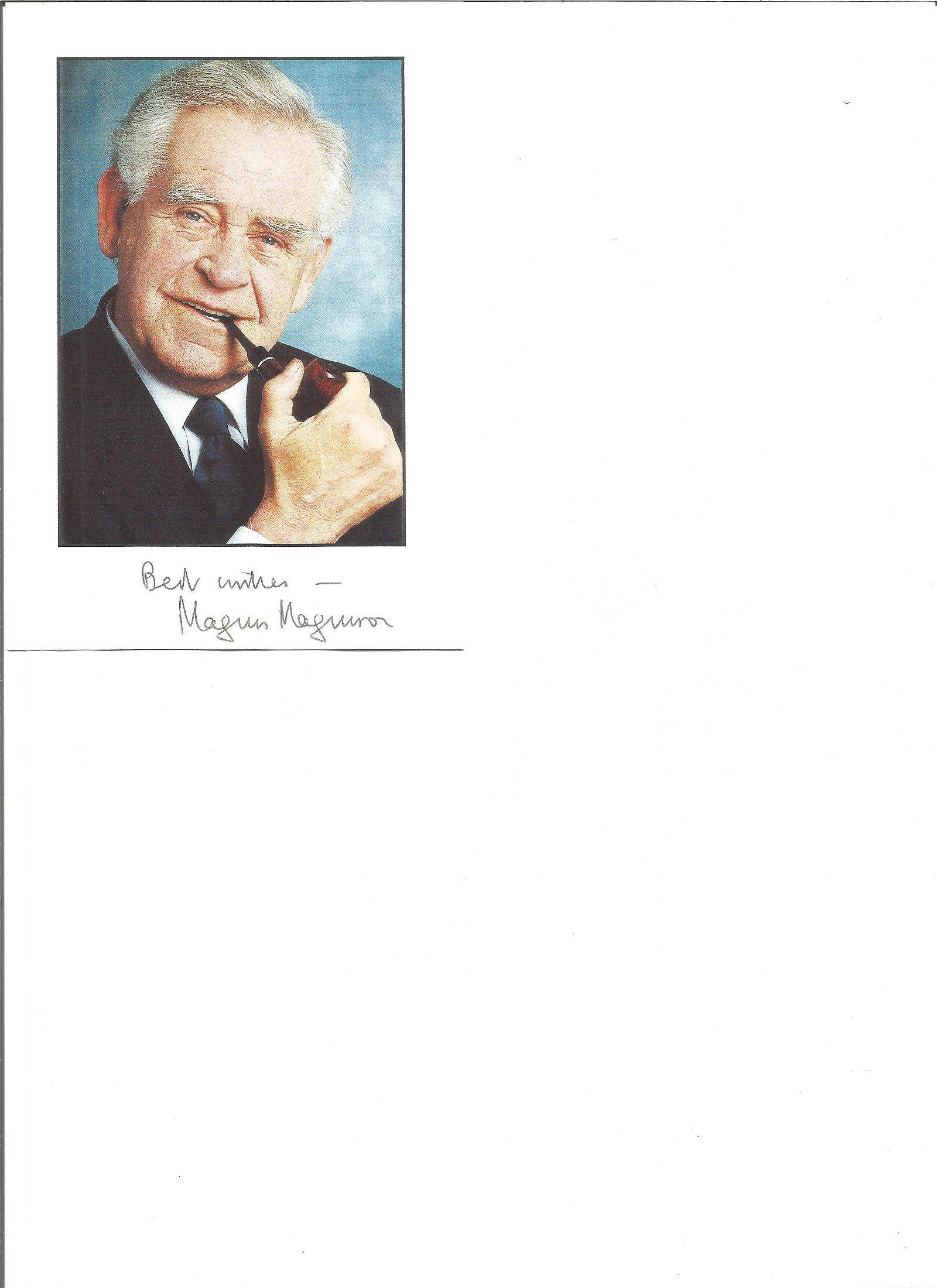 Magnus Magnusson signed 6x4 colour photo. Good