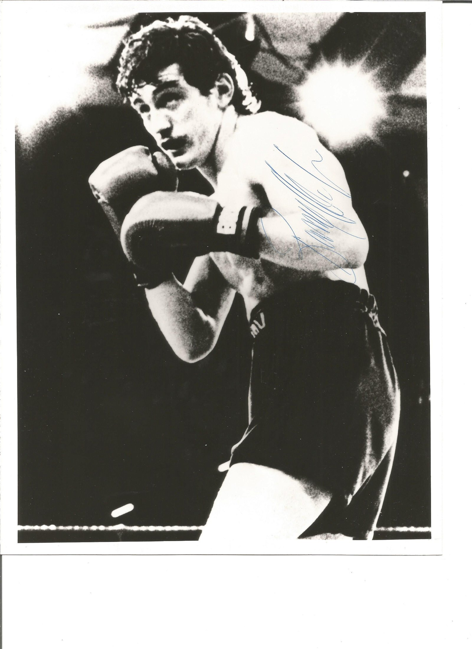 Barry Mcguigan signed 10x8 black and white photo. Good