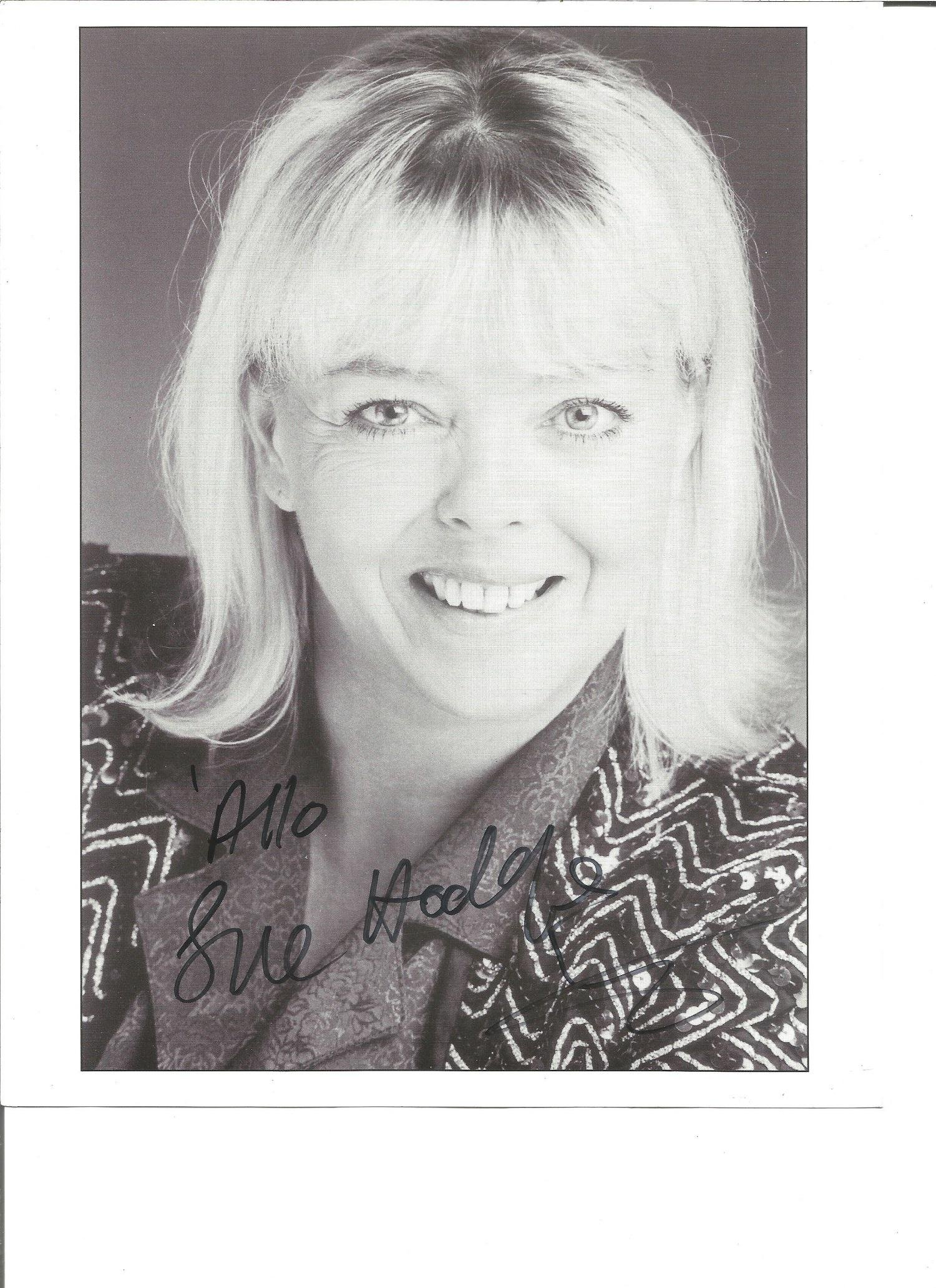 Sue Hodges signed 10x8 black and white photo. Good