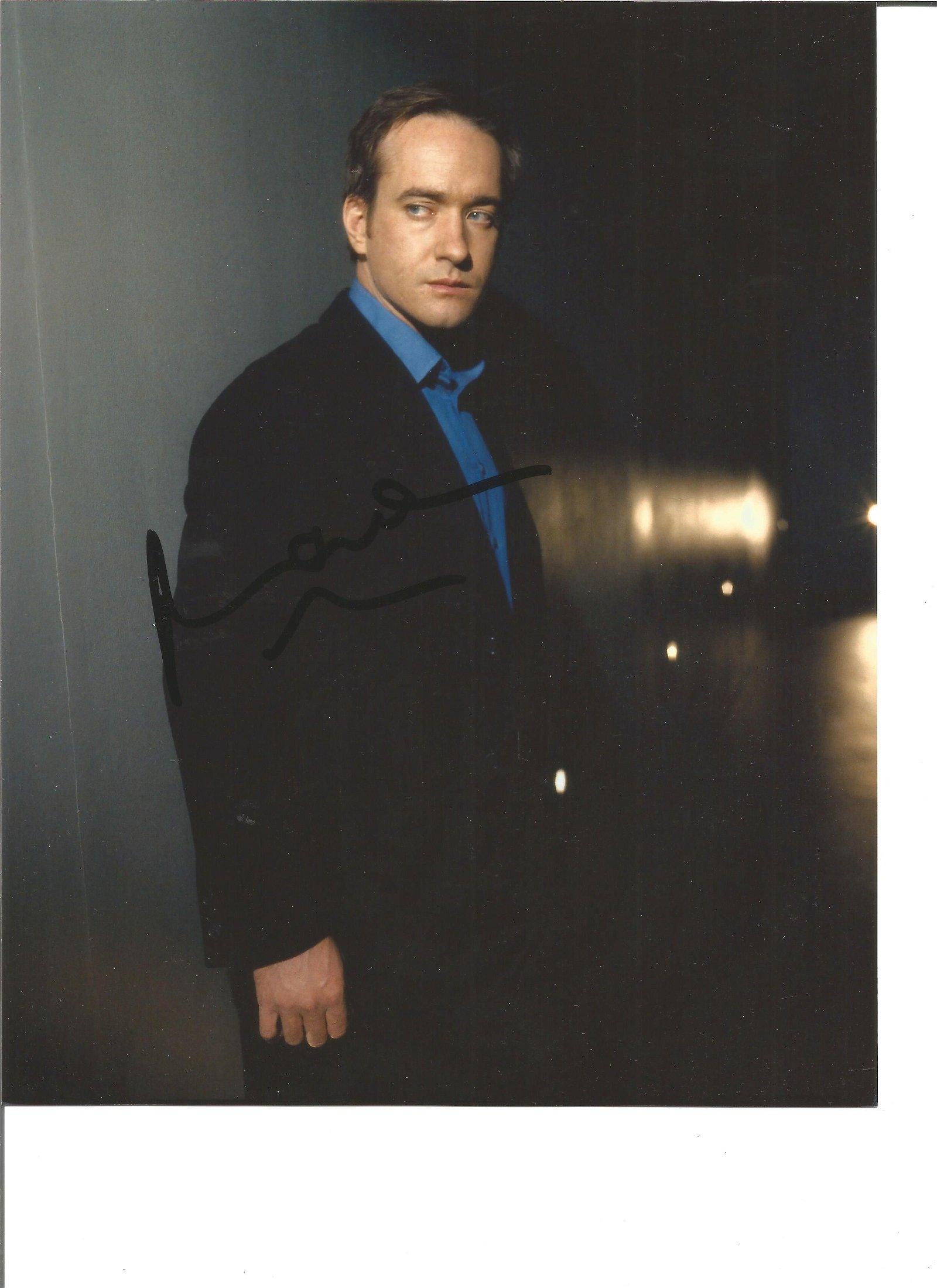 Matthew MacFayden signed 10x8 colour photo. Good