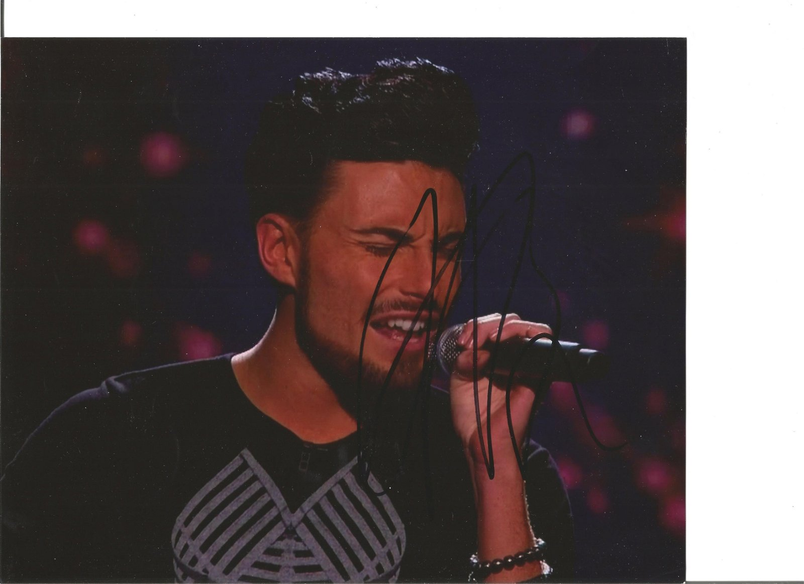 Rylan Clark signed 10x8 colour photo. Good Condition.