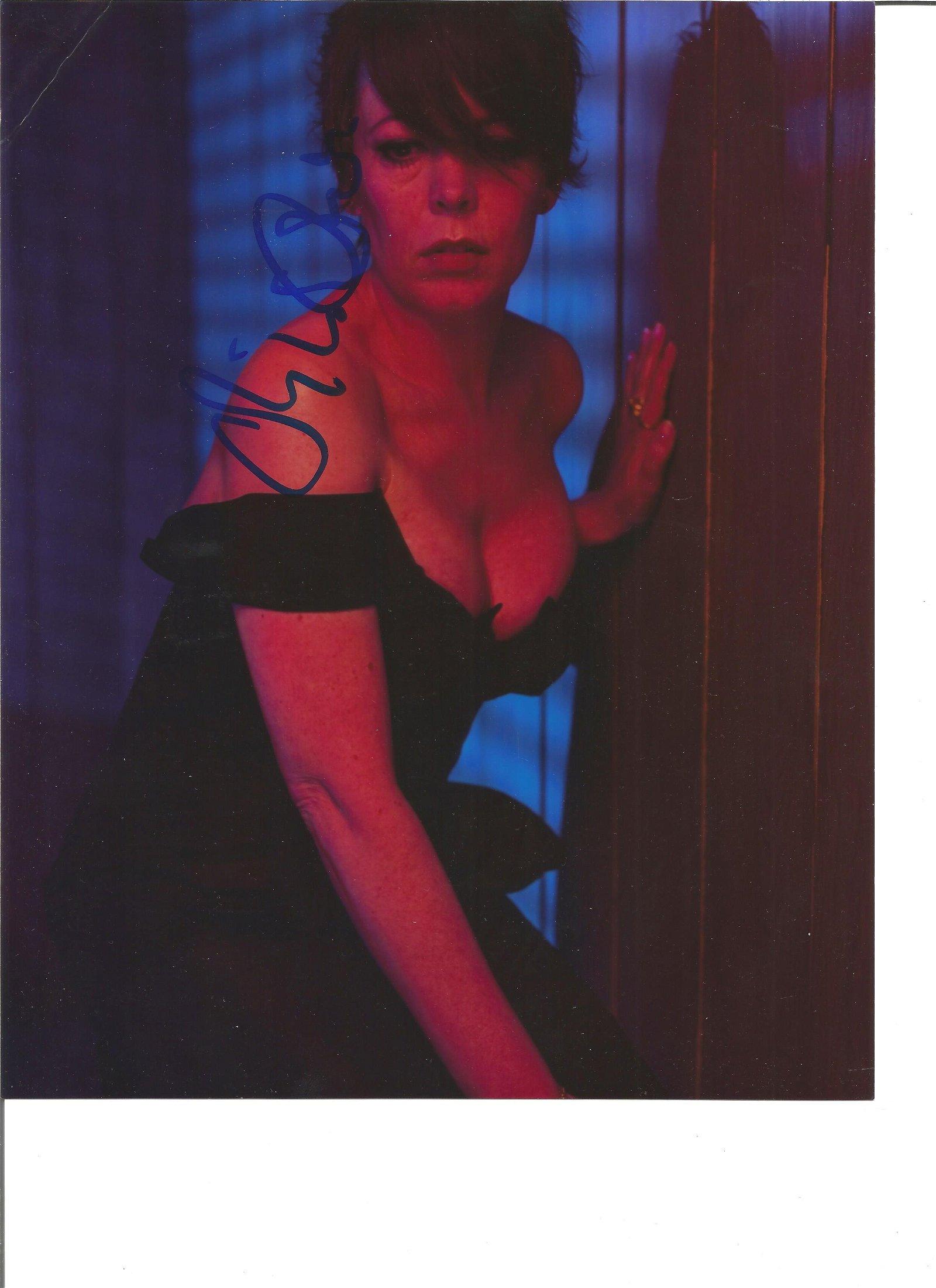 Olivia Colman signed 10x8 colour photo. Good Condition.