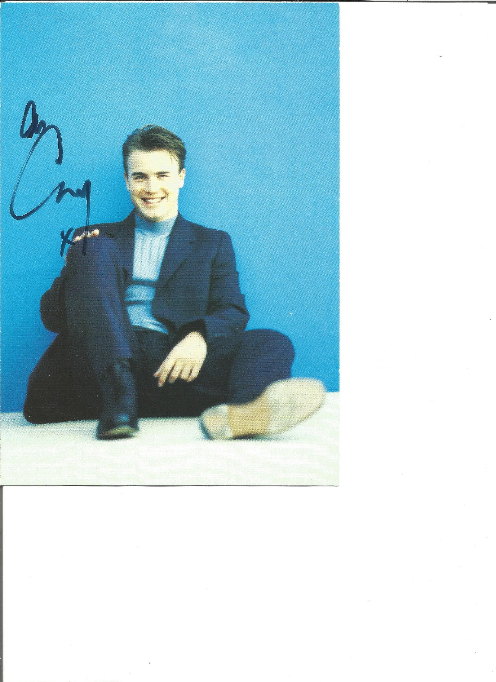 Gary Barlow signed 8x6 colour photo. Good Condition.