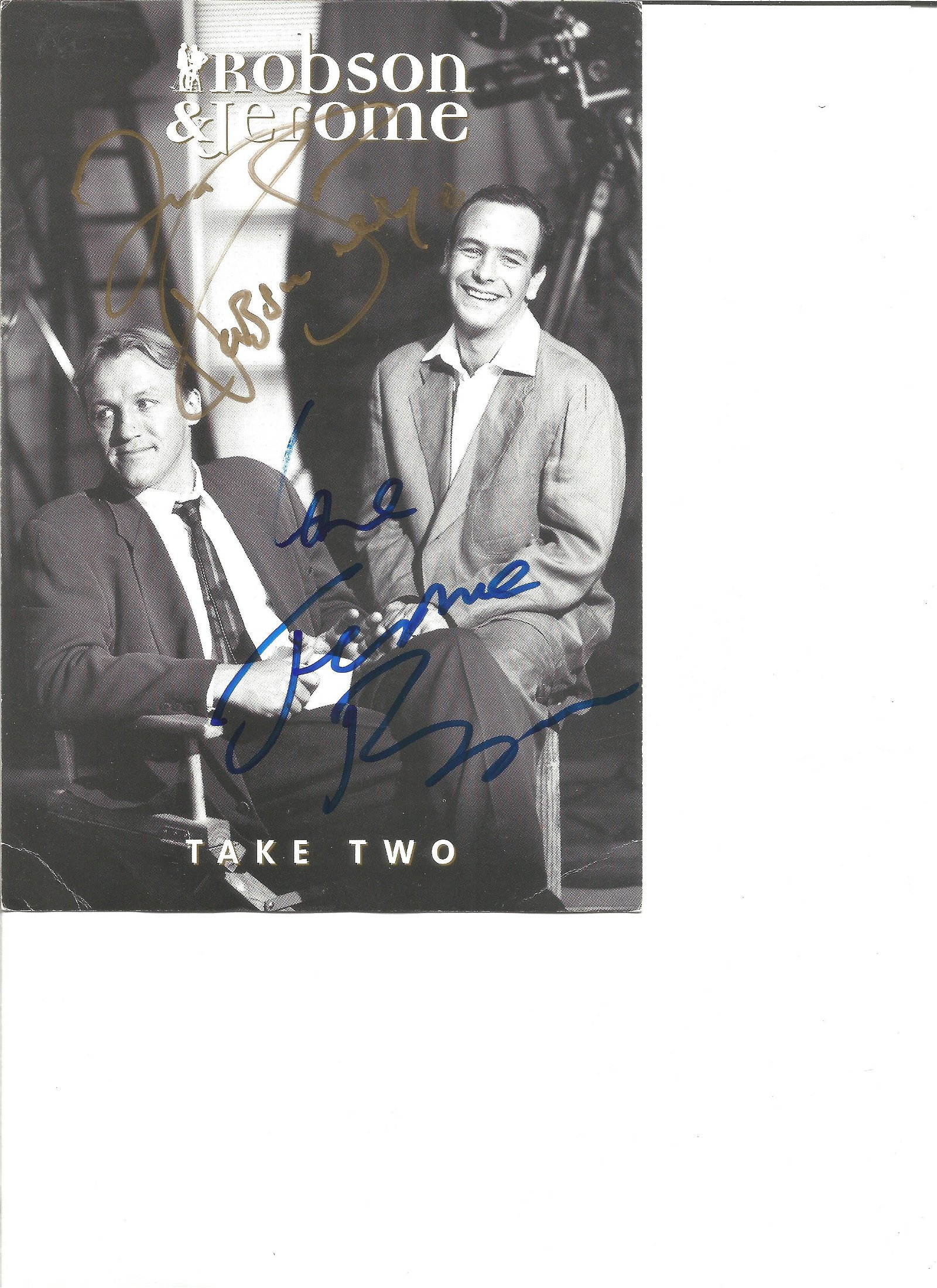 Robson and Jerome signed 8x6 black and white photo.