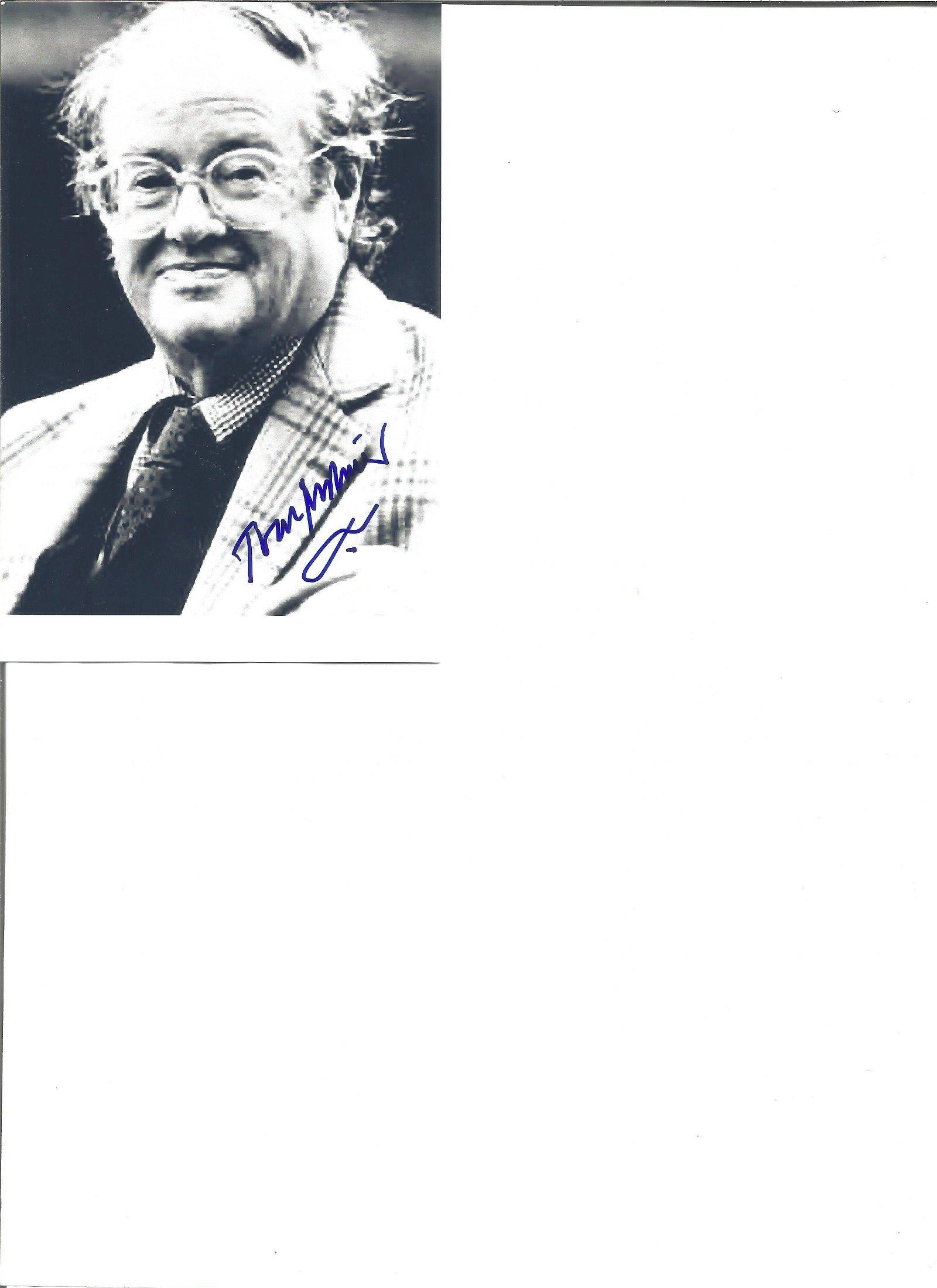 John Mortimer signed 6x4 black and white photo. Good