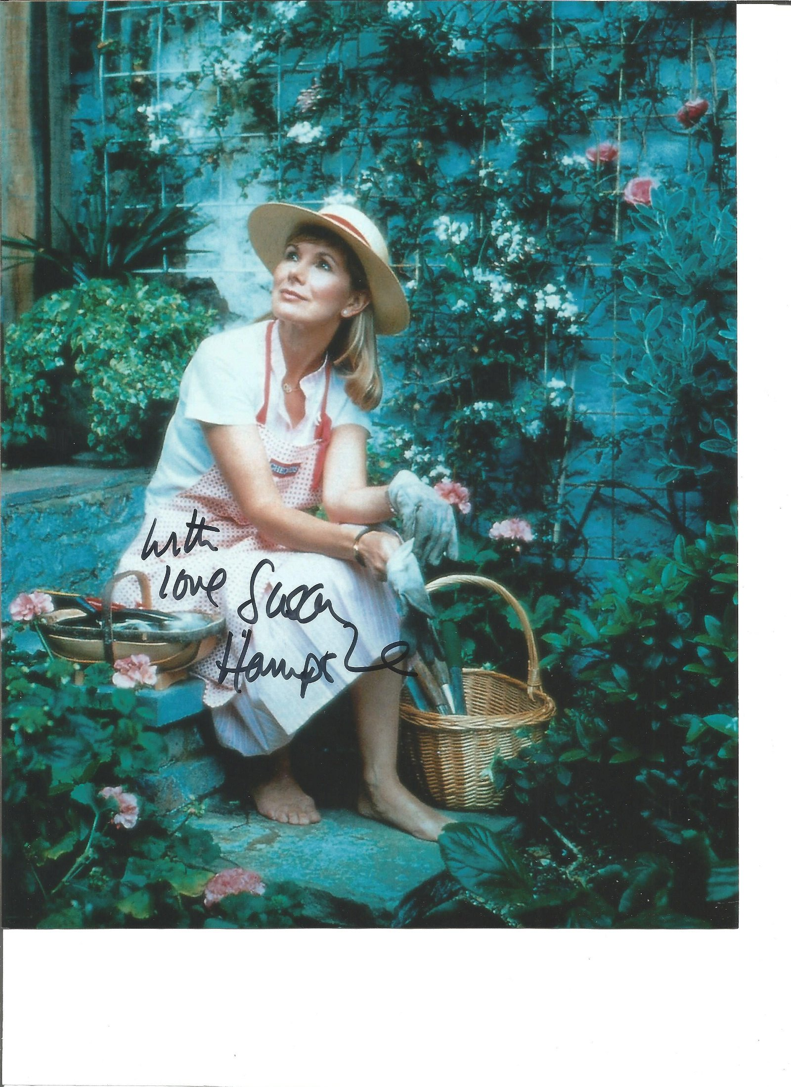 Susan Hampshire signed 10x8 colour photo. Good