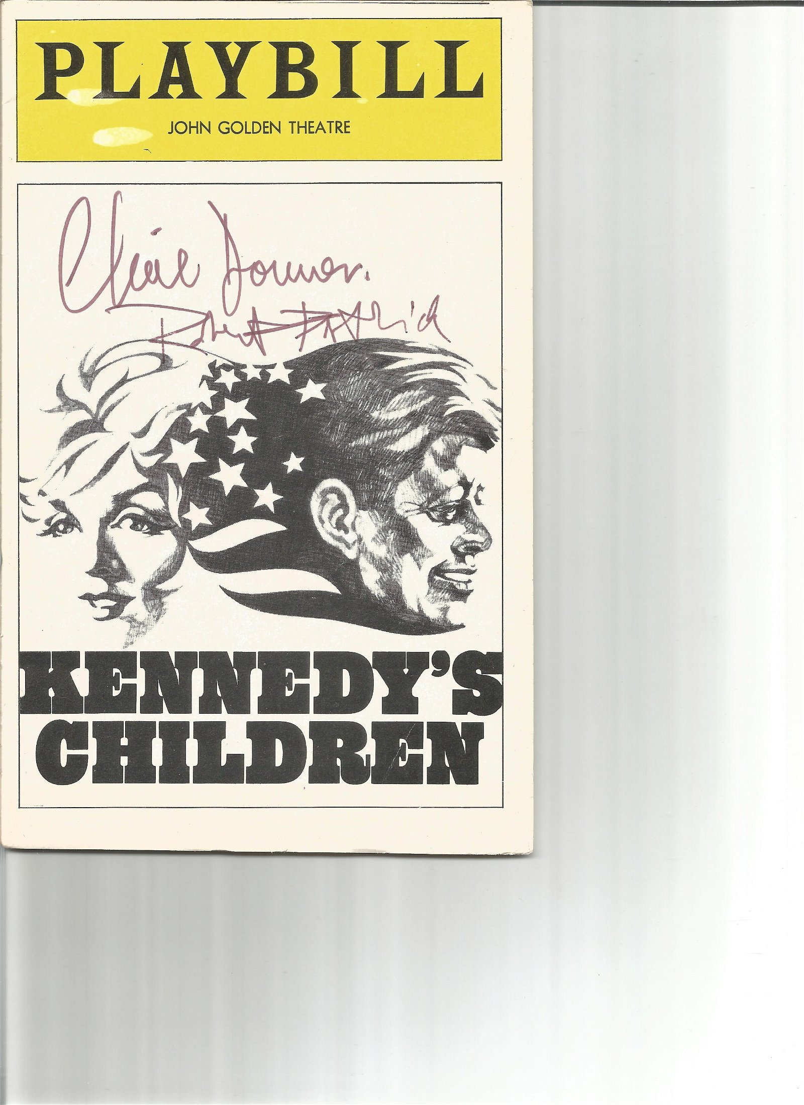 Claire Dommer and Robert Patrick signed Playbill