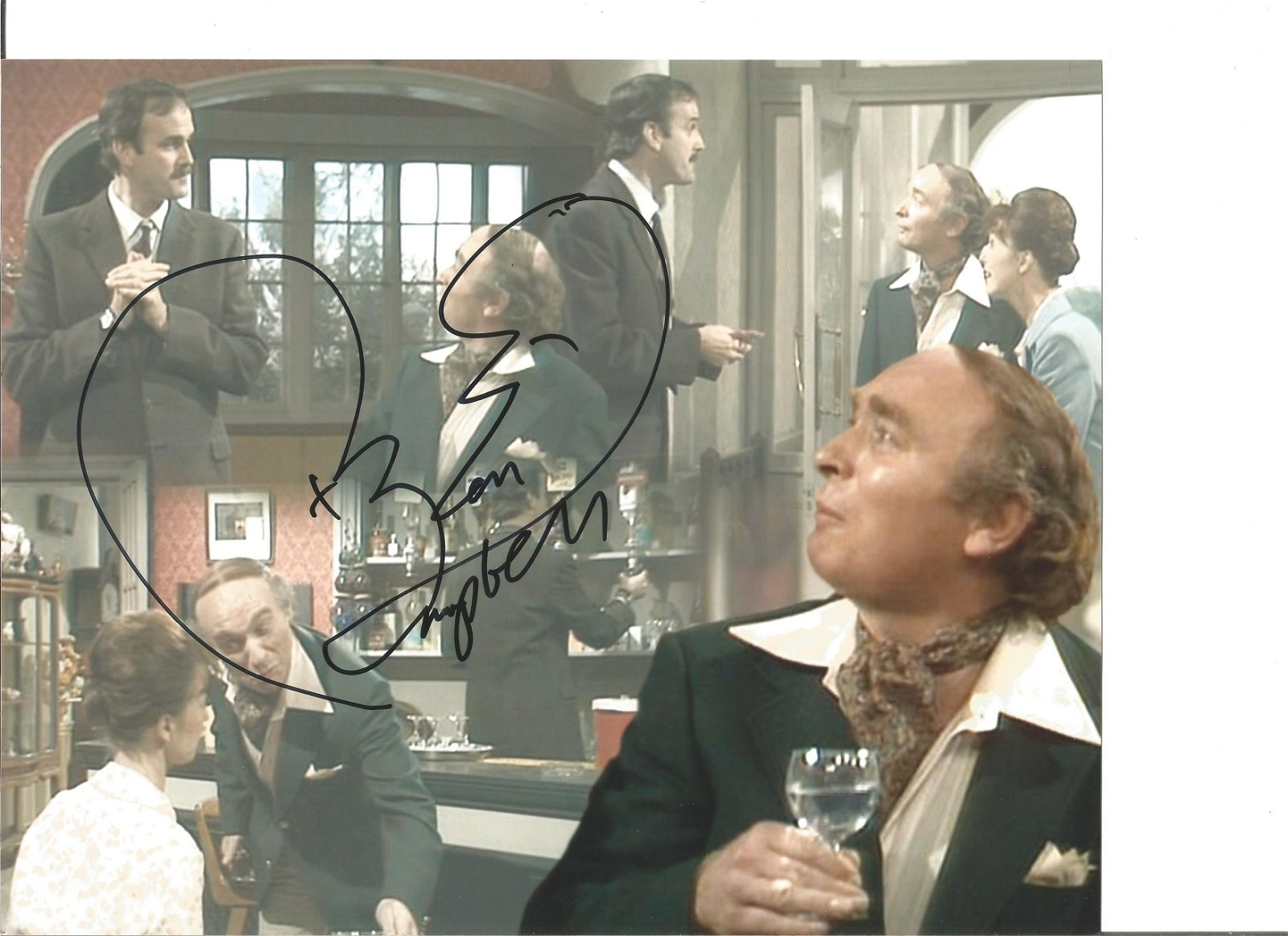 Ken Campbell signed 10x8 colour Fawlty Towers photo.