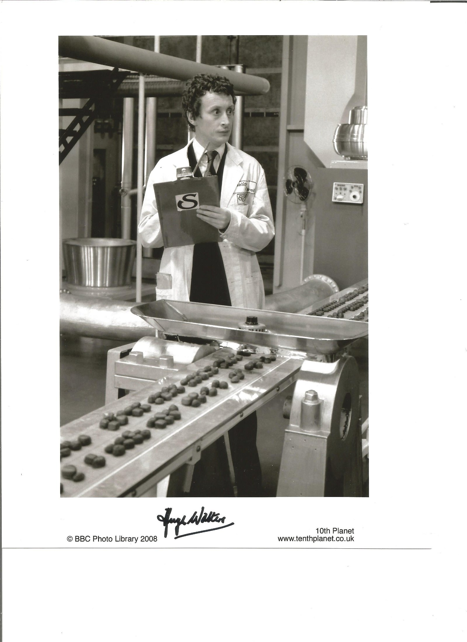 Hugh Walters signed 10x8 black and white photo. Good