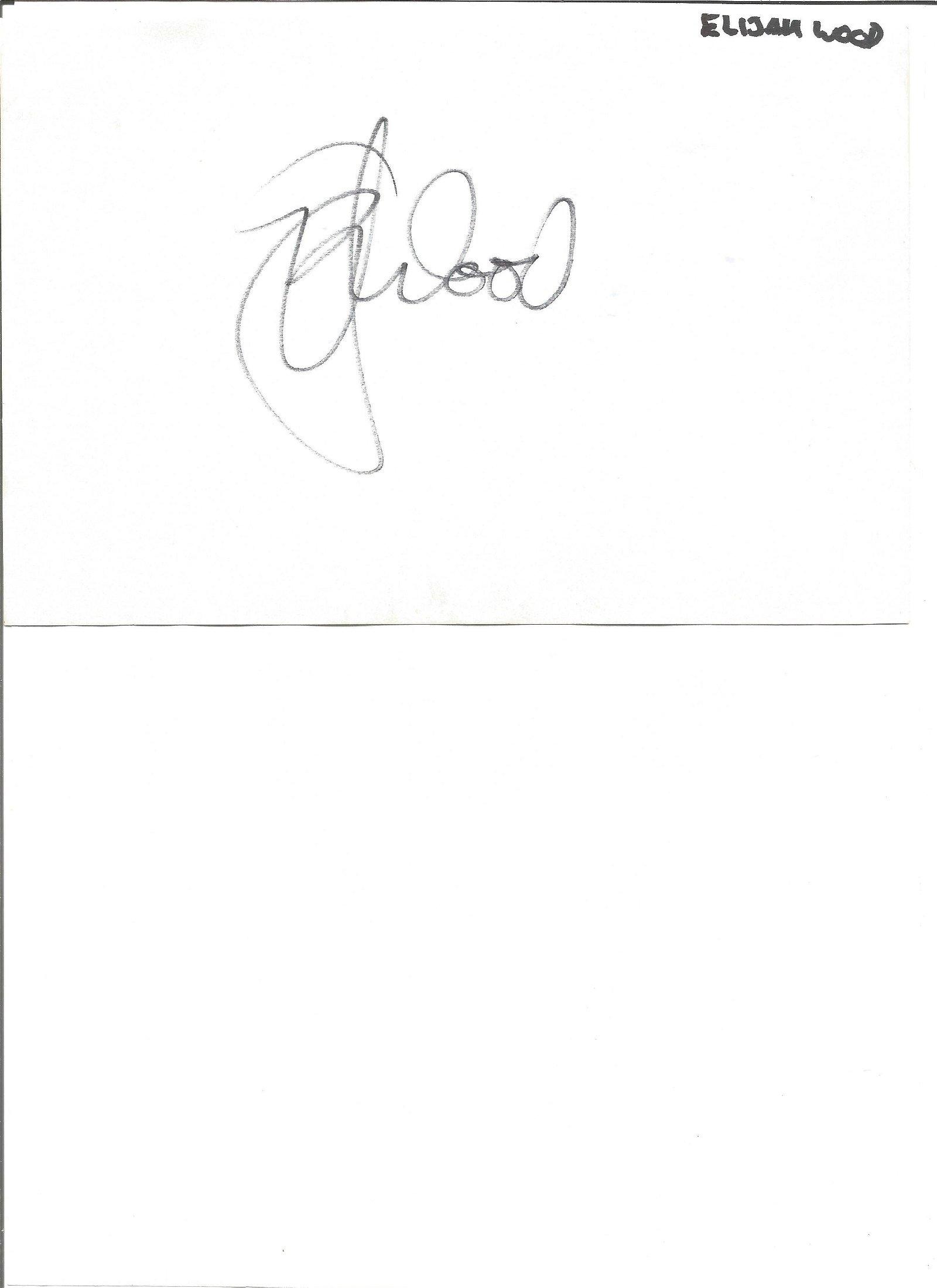 Elijah Wood large signature with 10x8 colour photo.